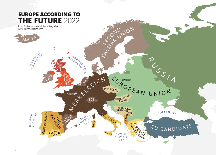 Mapping Stereotypes: Europe According to the Future, 2022 // (c) Yanko Tsvetkov