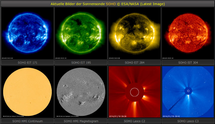 Weltraumwetter // ESA/NASA via Astrofan80's Astroseite